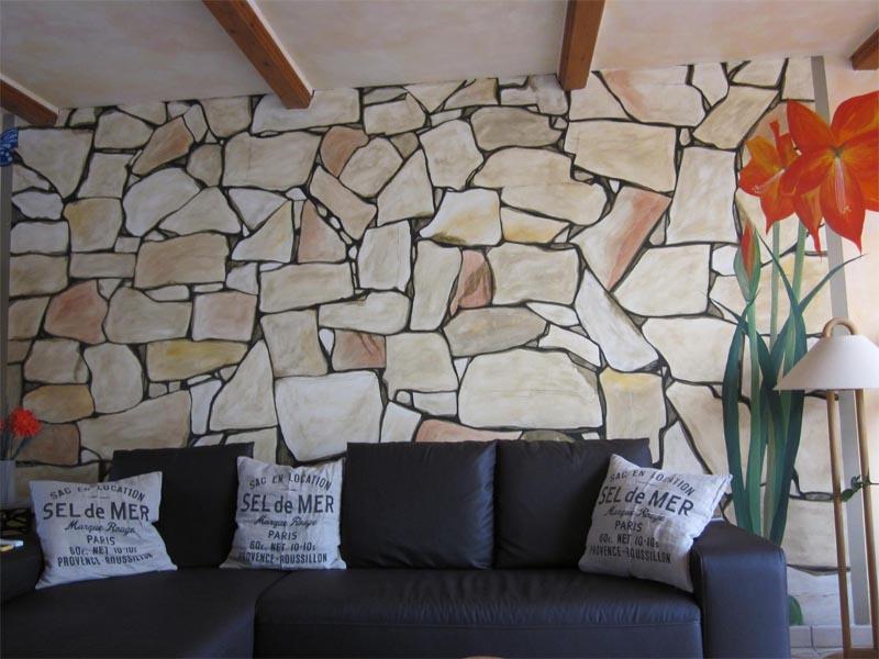 Wandmalerei bewusstes wohnen - Wandmalerei wohnzimmer ...